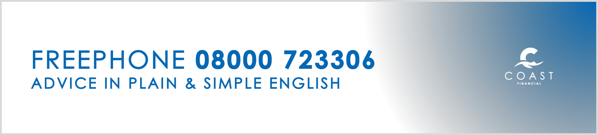 Free Phone Banner Sample - Coast Financial UK